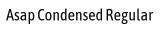 Asap Condensed Regular font