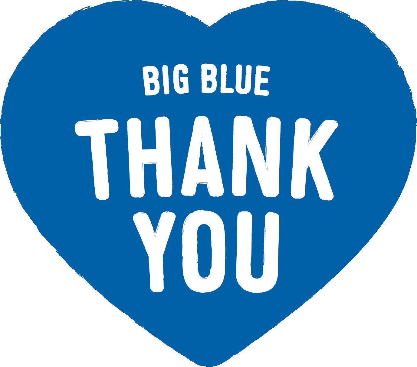 Big Blue Thank You Logo